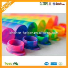 2015 Hot Sell Disposable Ice Cream Popsicle Molds / Silicone Ice Tray / Ice Cream Pop Moule / Fabricant Pour Popsicle