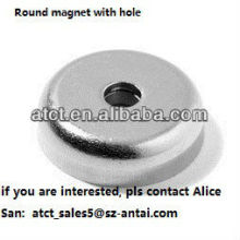 Round magnets with holes,rare earth magnet