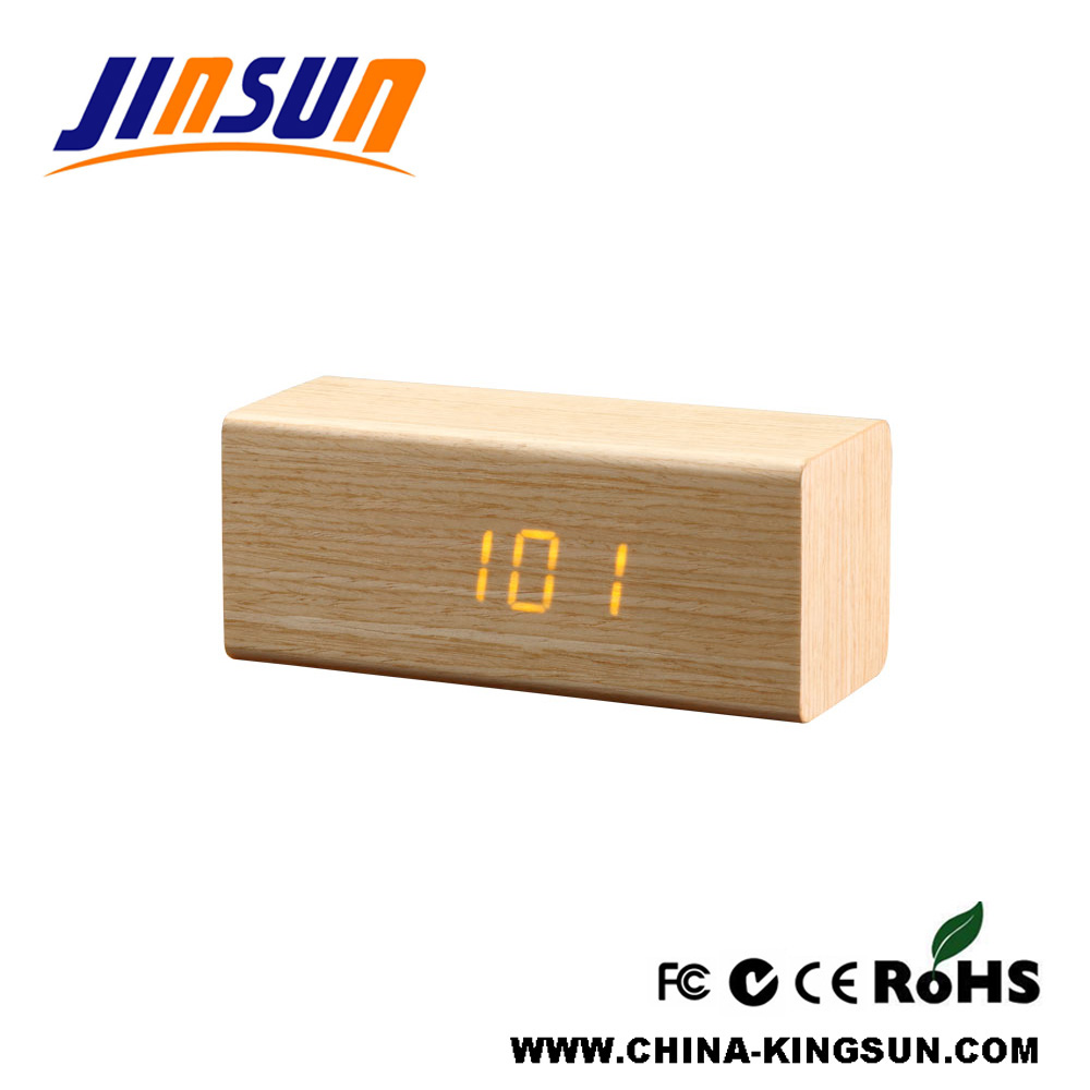 Christmas Wooden Led Gift Clock Souvenir