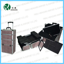 New Style Brown Snake Skin Beauty Trolley Case (HX-PT007)