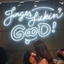 WHITE LIGHT LED NEON LETTERS