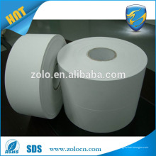 Personalizado en blanco destructible vinly eggshell etiqueta de material de papel para impresora cebra