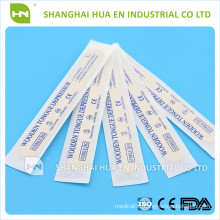 Disposable medical sterile wooden tougue depressor