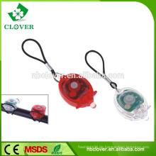 Zwei Paar Kunststoff Mini Power 1 LED Fahrrad Licht