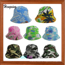 Mode Baumwolle Hawaii Muster Eimer Hut Hawaii Bucket Cap