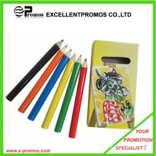 De alta qualidade promocional 7inch madeira Multi-Color Pencil Set (EP-P9075)