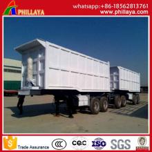 Camion à benne basculante semi-remorque 2 essieux avant / arrière