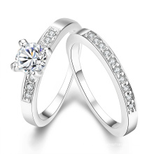 Europa-heißer Verkaufs-populärer runder Zircon-Ring Kombinatorischer zwei Ring für Frauen