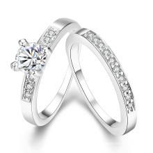 Europa caliente venta anillo de anillo redondo popular Zircon Combinatorial dos para las mujeres