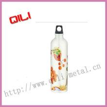 Белая алюминиевая Спортивная бутылка