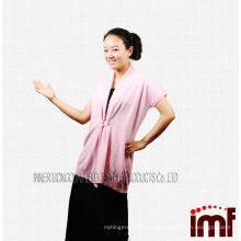 Новый 2015 года розовый монгольский кашемир ручной работы взрослого вязания жилет с Shell кнопку