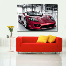 Red Sports Car Cheap Giclee Printing for Living Room