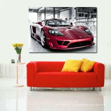 Красный спортивный автомобиль Дешевая печать Giclee для гостиной