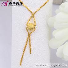 Xuping Moda 24k oro Color Scrub collar de cuentas (42523)