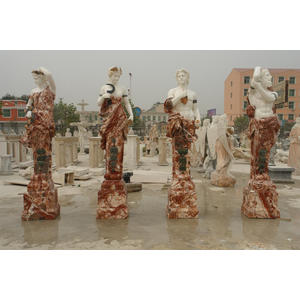 Mixed Color Marble Four Season Statues