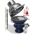 Tamaño grande cerámica tabaco cachimba tazón con tapa de viento