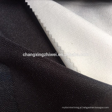 Interlining fusível tecido com alta capacidade de estiramento para homens e senhoras