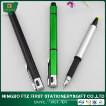 Surligneur en plastique, les deux stylos latéraux