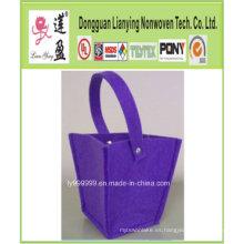 Púrpura popular hasta el mini invernadero de flores pote