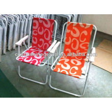 Outdoor folding stainless steel chair for promotion.