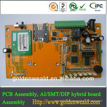 usb pcb assembly 4 layer-PCB, FR4 Material with 1.6mm Board, 1/2oz Copper Thickness,Lead Free