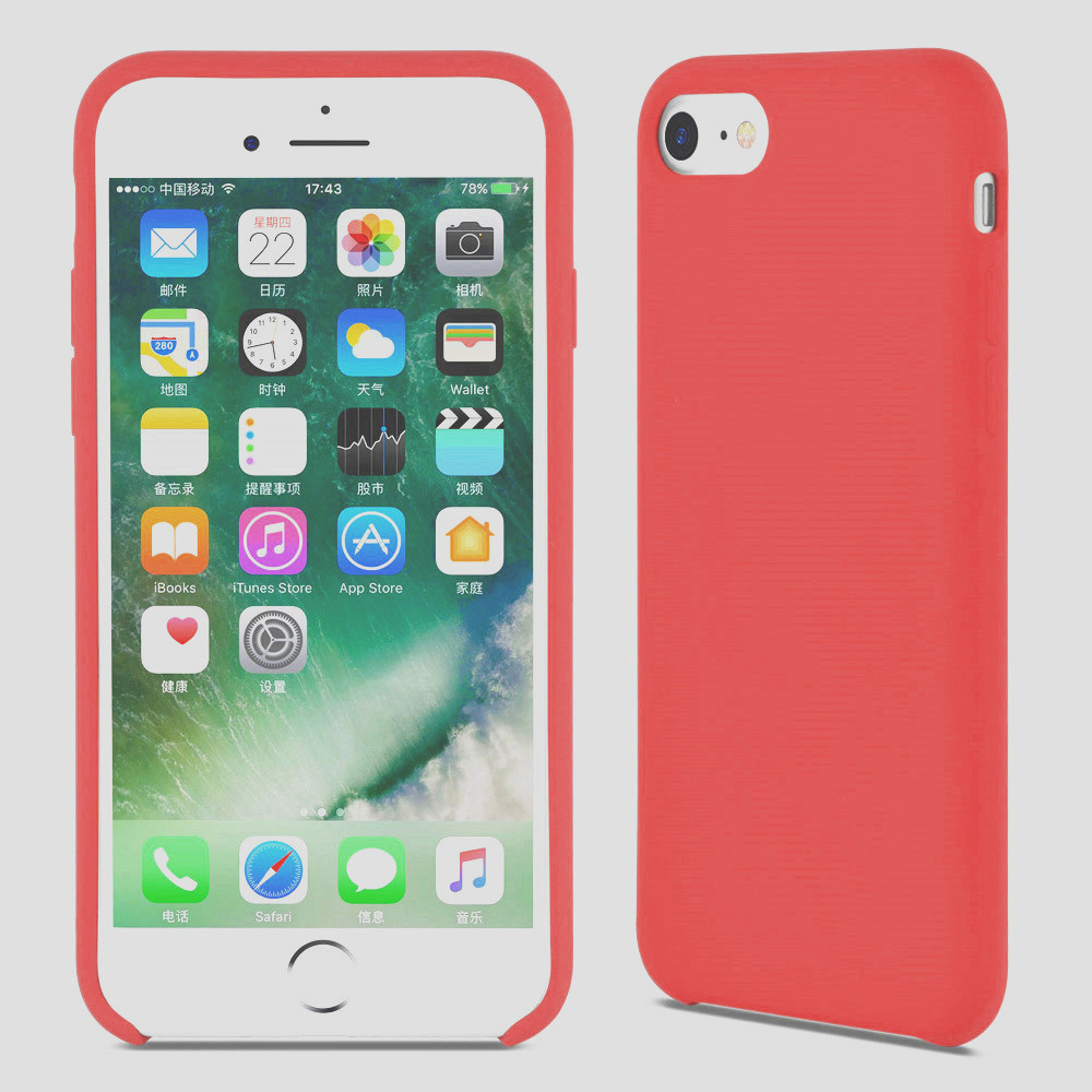 red liquid silicone iphone 6s pluscover