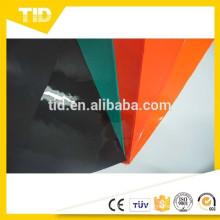 feuille réfléchissante de PVC, couleur noire