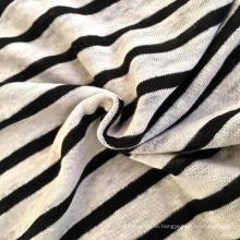 Льняная трикотажная полосатая ткань (QF14-1546-SS)