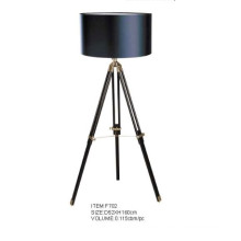 Black Lampshade Tripod Studio Floor Lamp