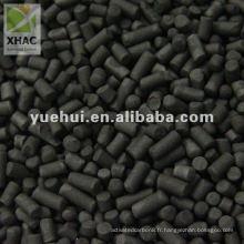 Charbon actif cylindrique à base de charbon de cendre de 4mm pour la purification de l'air
