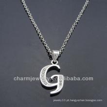 Alta qualidade Inglês alfabeto design prata encantos PCC-007