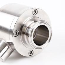 Válvula de bola de unión roscada de vía directa sanitaria SS316L
