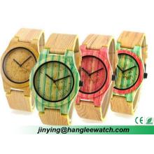 Soem in der neuesten Mode-Farbe Bambus Uhren Strap Uhr Holztisch