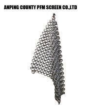 Malla de alambre redonda popular del alambre de Ss 316 7 * 7 8 * 8 depurador de Chainmail del acero inoxidable