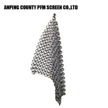 Ss Wire populaire grillage rond 316 7 * 7 8 * 8 Scrubber Chainmail en acier inoxydable