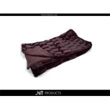 Heavy PV Fleece Faux Fur Blanket Throw with Double-Layer