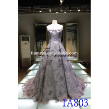 China alibaba taaffeta off shoulder wedding dress 2016 Romantic Off Shoulder Women Apparel embroidered Evening Dress