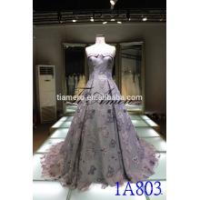 China alibaba taaffeta vestido de casamento de ombro 2016 Romântico Off Shoulder Women Apparel vestido de noite bordado