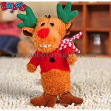 Soft Pelúcia Natal Deer animal Pet Toy para cão e gato Bosw1084 / 15cm