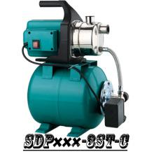 (SDP600-3ST-C) Casa Jardim Jet Booster, bomba de água com tanque de escorvamento
