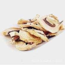 Champignonscheiben aus getrocknetem Pilz