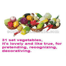 fruit, vegetables and bread play foods