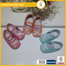 Venda por atacado quente alta qualidade linda mistura bebê bebê sapatos menina