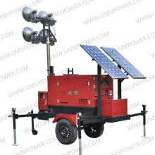 Solar híbrido e torre de luz do gerador (ULT8E)