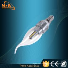 Venta caliente gran potencia 4W LED luces de las velas