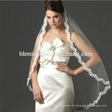 2017 nuevo diseño 1.5 m coreano velo de novia atado para novia