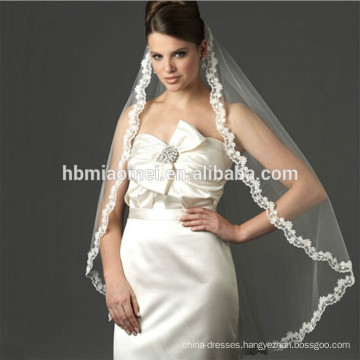 2017 new design 1.5m korean laced Wedding veil for bridal