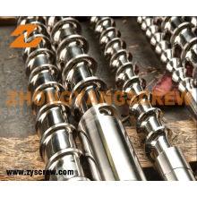 Tornillo y barril de la nitruración para el barril de tornillo del extrusor de PVC / PP / PS