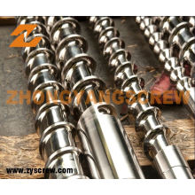 Vis de nitruration et baril pour le baril de vis d'extrudeuse de PVC / pp / picoseconde