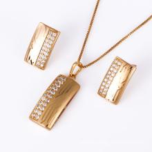 Xuping Fashion 18k Gold Laser Jewelry Set Jewelry (61186)